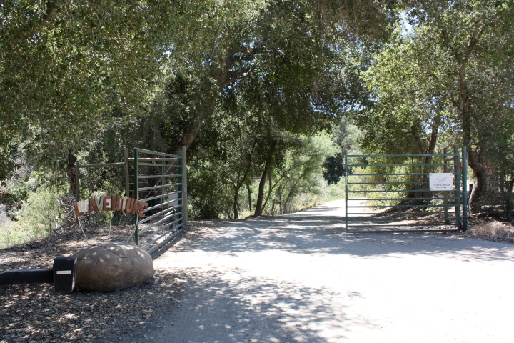 The entry gate to L'Aventure Winery and Estate Vineyard