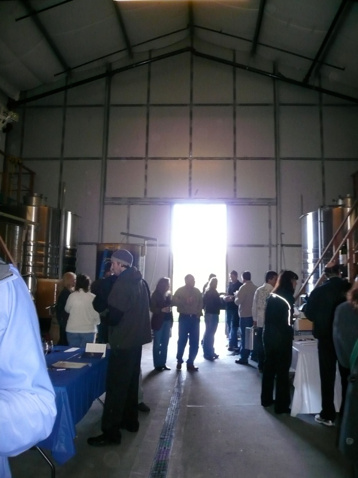 View from inside the tasting at L'Aventure Winery