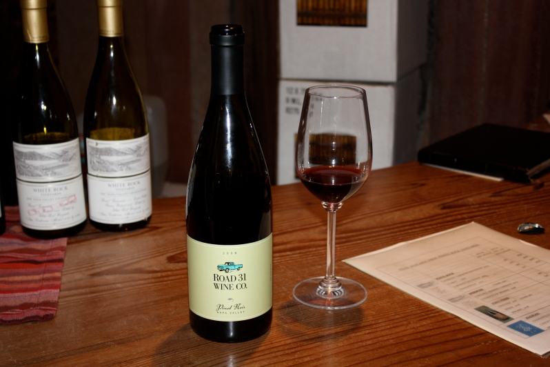 Sharing one of the last remaining bottles of '08 Road 31 Pinot Noir