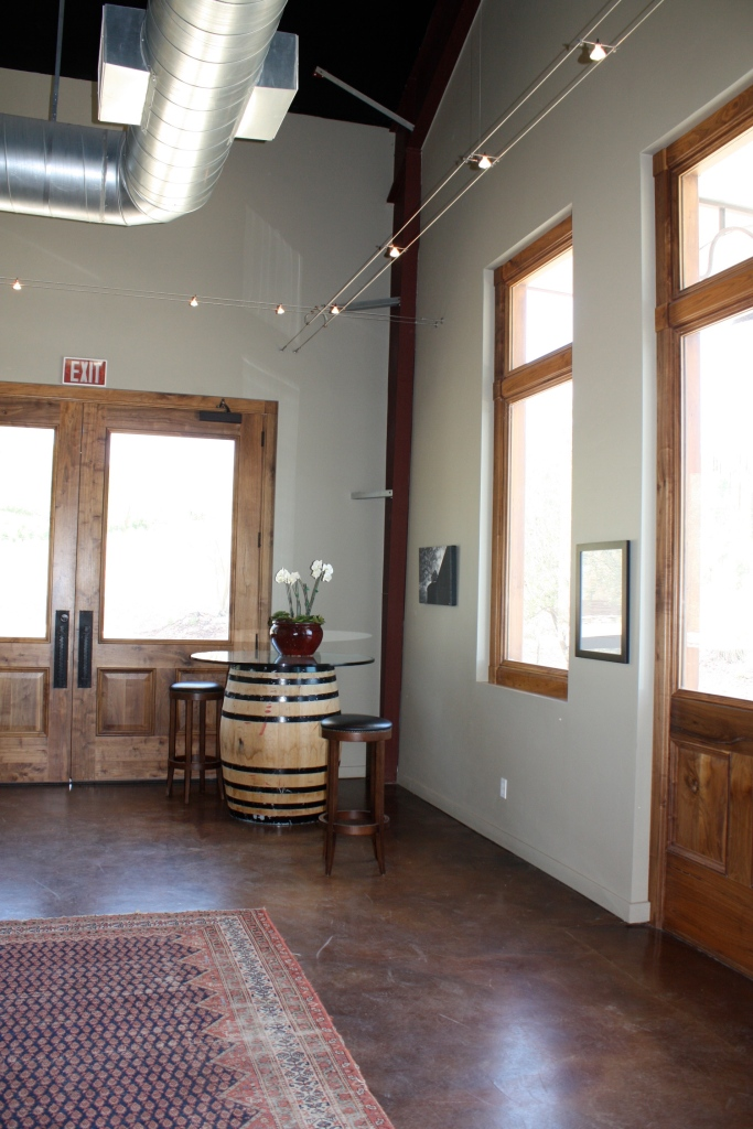 Tasting room at Booker Vineyard