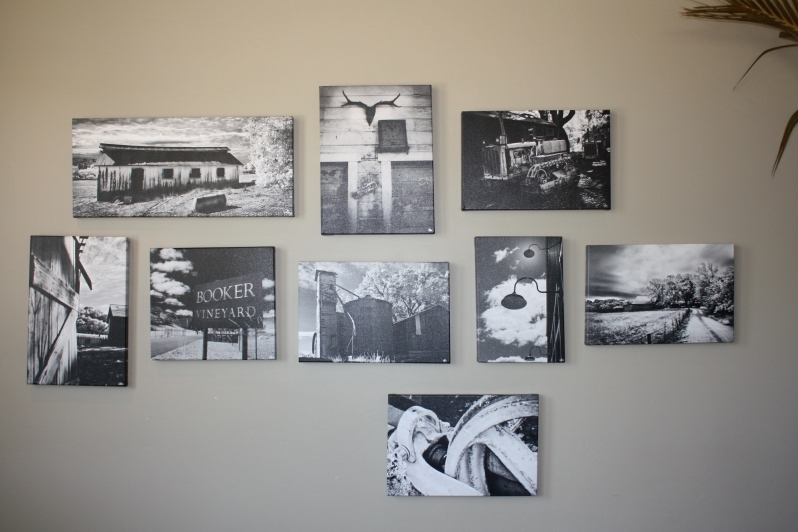 Black & white photos at Booker
