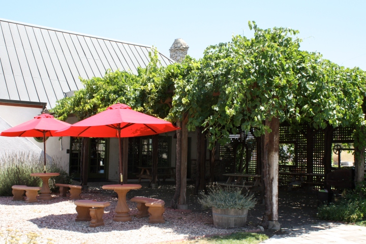 Outdoor patio at Chronic Cellars