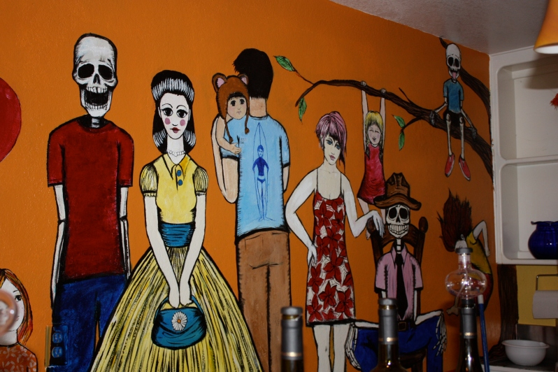 Artwork on the walls at Chronic Cellars
