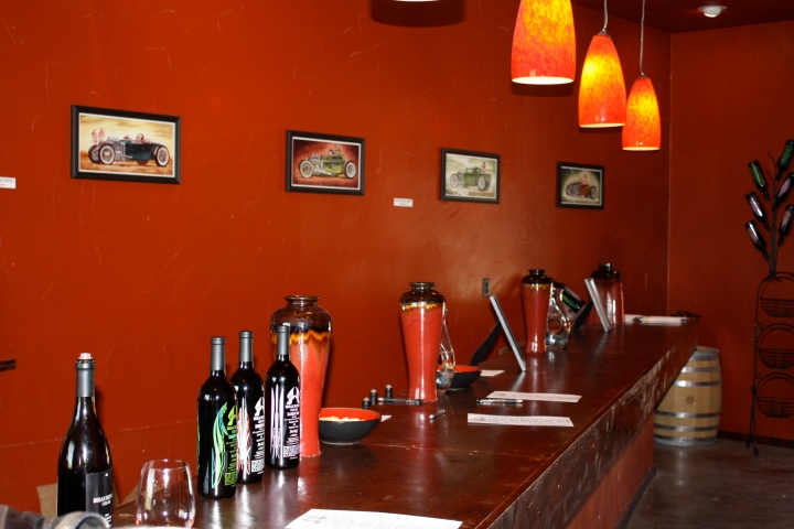 Tasting room at Brian Benson Cellars