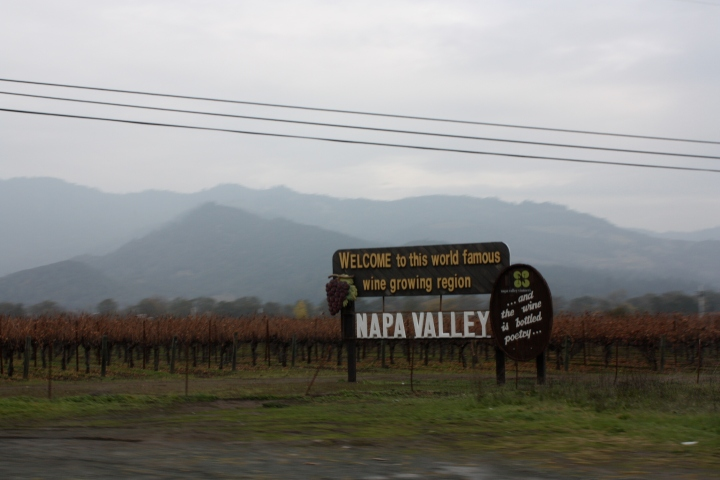 Napa Valley on a beautiful winter morning