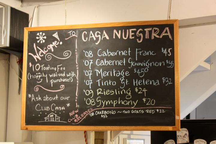 Casa Nuestra Tasting Room