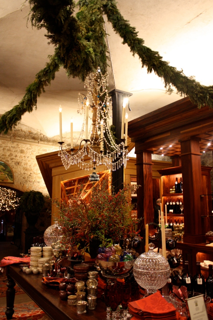 The warm and festive interior at the Rubicon Estate Chateau