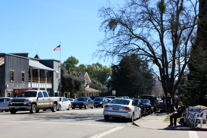 A view of Grand Avenue in Los Olivos