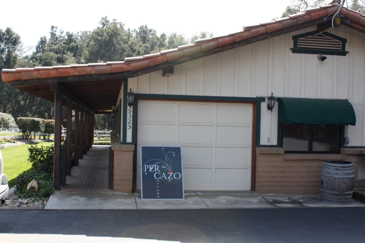 The Teckman's home & current tasting room for Per Cazo Cellars