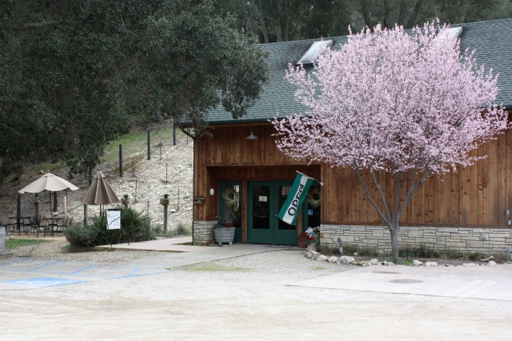 Outside the tasting room at Alta Colina Estate Vineyard