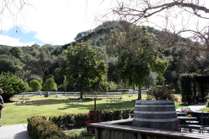 Picnic area at Rancho Sisquoc Winery