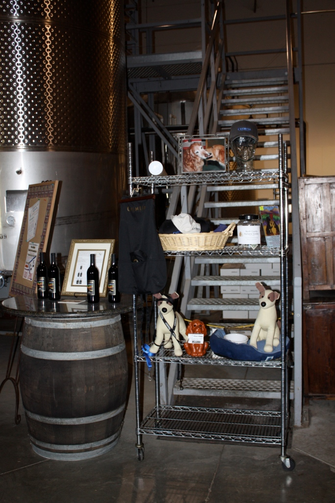 A section dedicated to furry friends in the Chumeia Vineyards tasting room