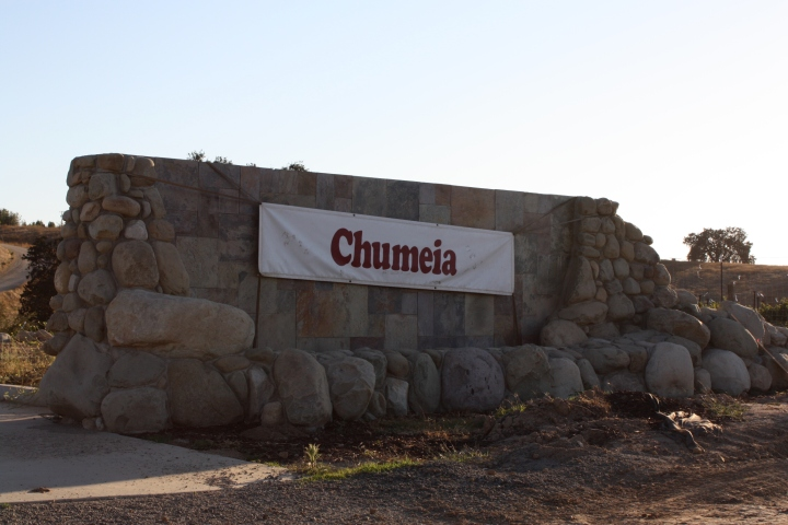 Leaving Chumeia Vineyards...