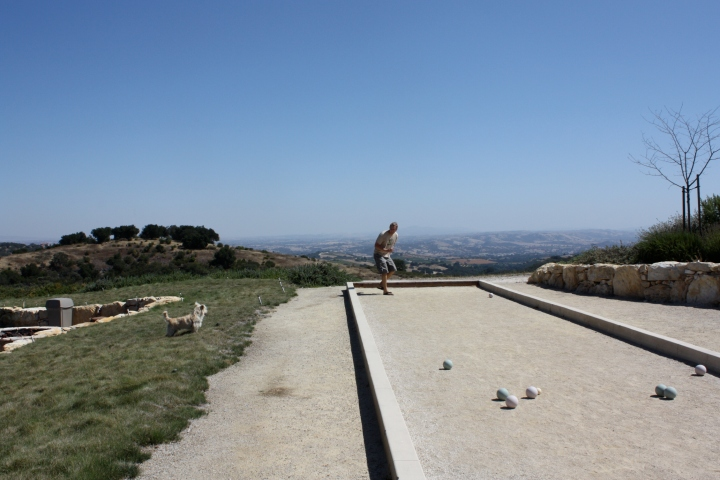 Bocce ball court at Calcareous Vineyard
