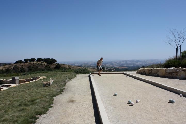 Bocce ball court at Calcareous Vineyard