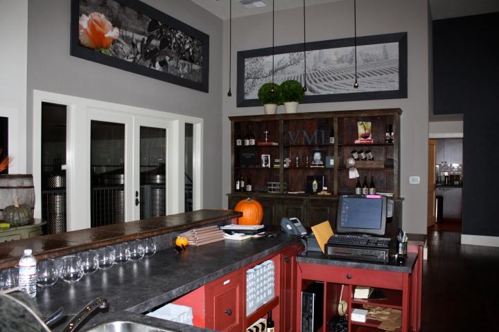 Tasting room at VML Winery