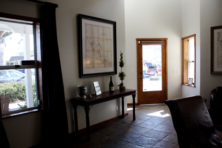 Inside the Alta Maria Vineyards tasting room