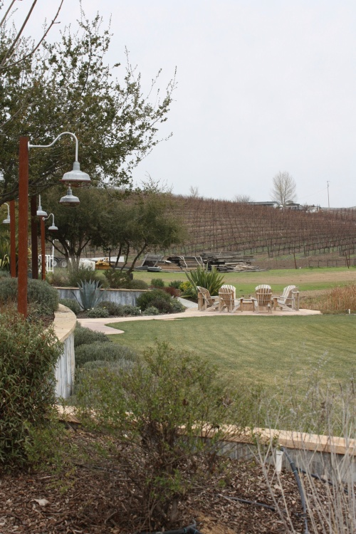 Seating area at Terry Hoage Vineyards