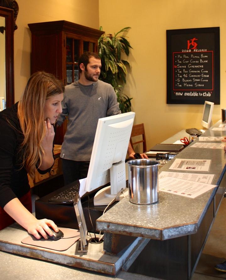 Evan & Kellie of Terry Hoage Vineyards