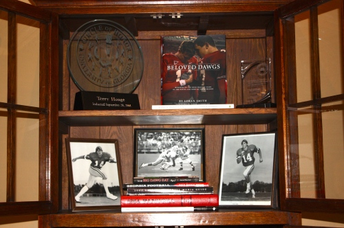 Memorabilia from Terry Hoage's career in the NFL