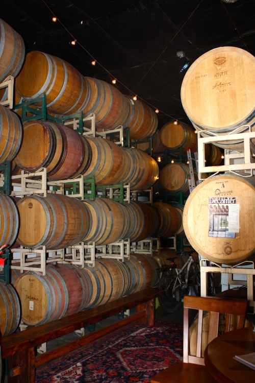 Inside the Jalama Wines tasting room