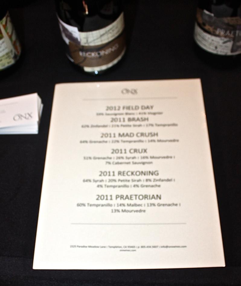The ONX Wines Portfolio