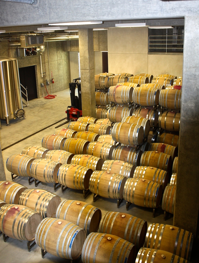 Barrel aging at Law Estate WInes