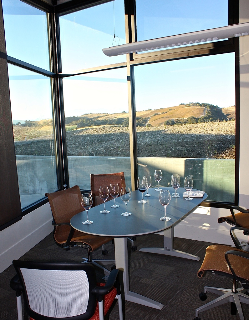 "Our ""tasting room"" for the afternoon with a beautiful view"