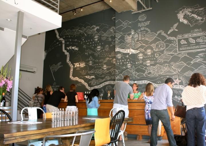 Inside the tasting room at AVA Santa Barbara