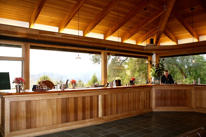The tasting bar at Gary Farrell Vineyards & Winery