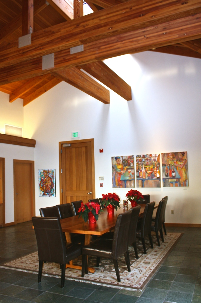 Inside the tasting room at Gary Farrell Vineyards & Winery
