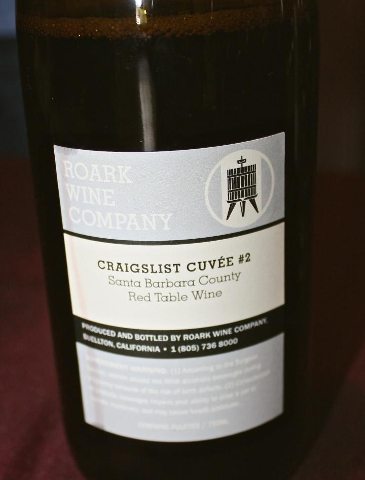 "Roark Wine Company's ""Craigslist Cuvee #2"" Red Wine Blend"
