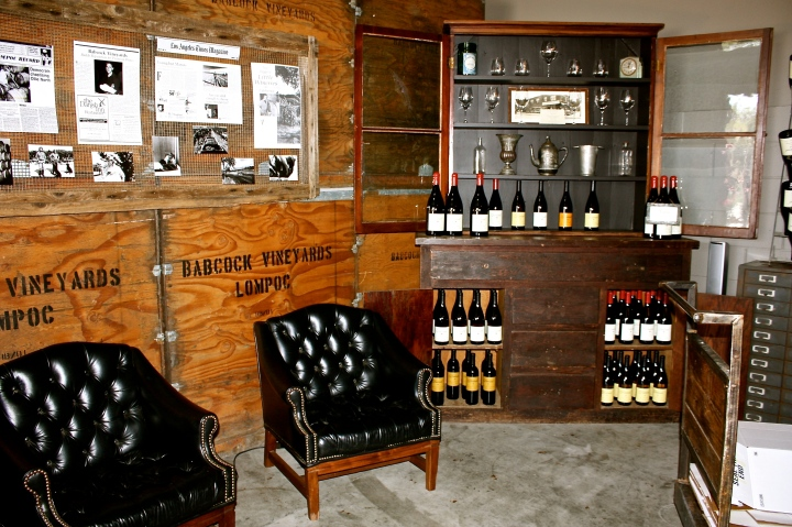 Inside the Babcock Winery & Vineyards tasting room