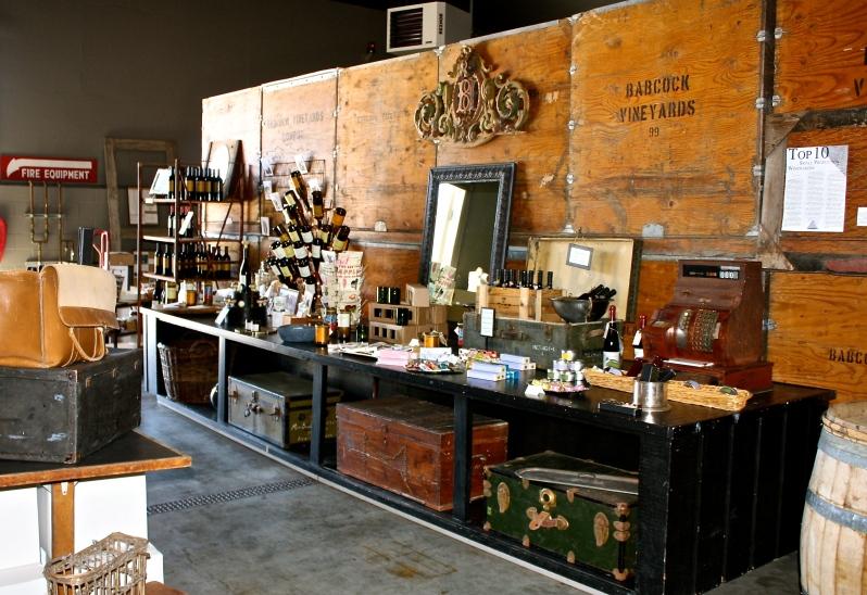 Inside the Babcock Winery & Vineyards tasting room