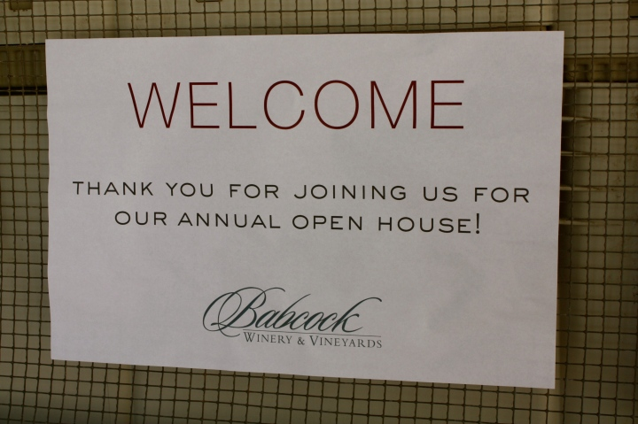 Annual open house at Babcock Winery & Vineyards