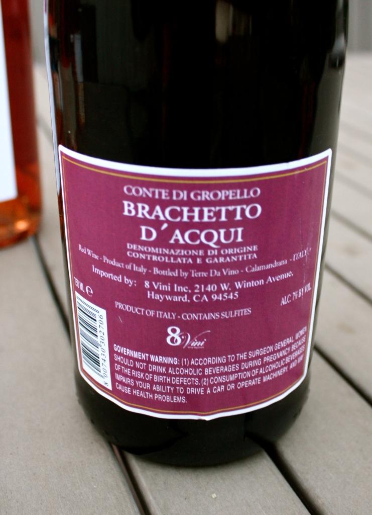 Conte Di Gropello Brachetto D'Acqui