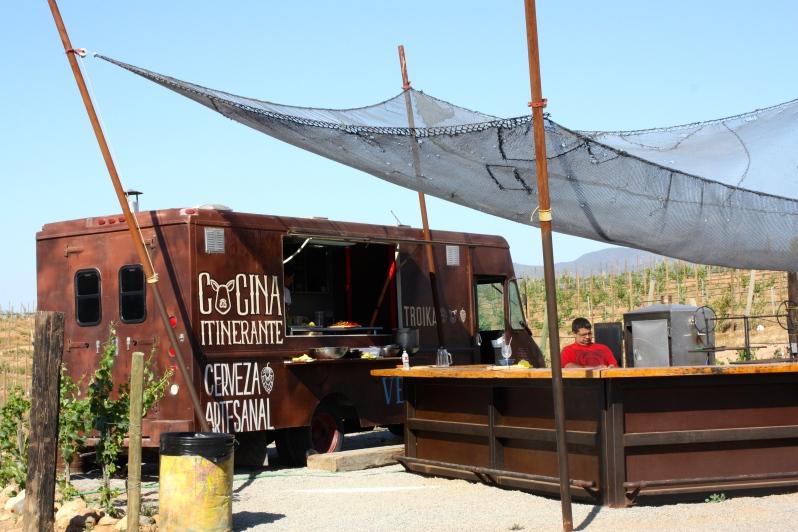 Troika food truck at Vena Cava Winery