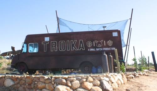 Troika food truck at Vena Cava