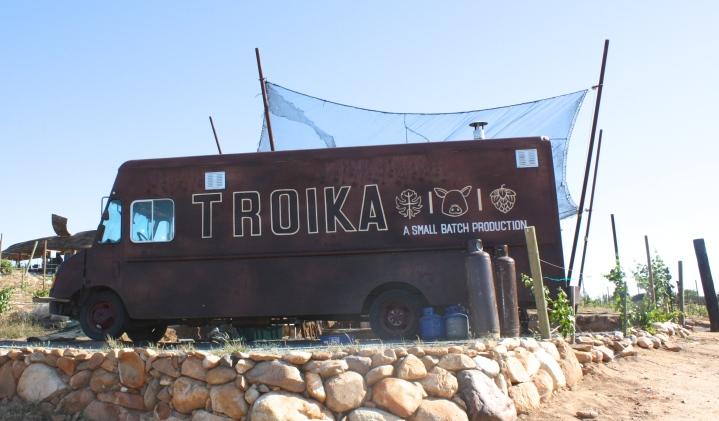 Troika food truck at Vena Cava