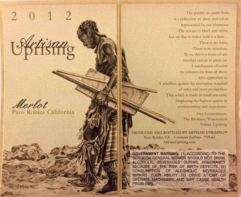 Artisan Uprising's beautiful hand-drawn label